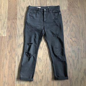 AG The Devon Distressed True Boy Fit Jeans